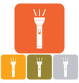 flashlight icon isolated vector image