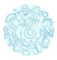 swimming circle vector image