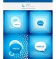 Speech bubble design set vector image