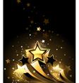 Three Golden Comets vector image vector image