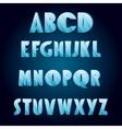 Ice age alphabet vector image vector image