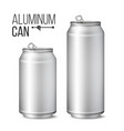 blank metallic can silver can 3d vector image