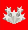Five silver stars vector image