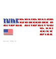 Independence day three dimensional inscription vector image