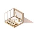 isometric low poly conference room icon vector image