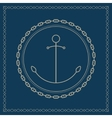 Marine emblem with anchor and chain vector image