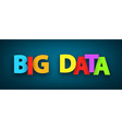 Paper big data sign vector image