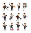 Set of Businessman in Different Poses vector image