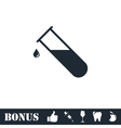 Test tube icon flat vector image