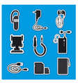 mobile phone accessories devices vector image