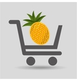 carry buying pineapple fruit icon graphic vector image