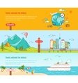 Travel concept Colorful banners set vector image vector image