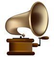 Old style gramophone vector image