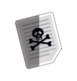 Dangerous sheet document vector image