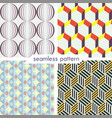set of four seamless geometrical patterns 8 vector image