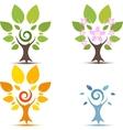 Trees on Four seasons vector image