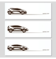 Set of car silhouettes isolated on white vector image vector image
