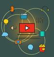 Modern communication scheme vector image