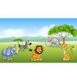 Cartoon happy animal africa vector image