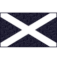 Scottish Saltire National Flag vector image