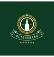 Beer Logo Template Design Element Vintage vector image