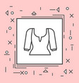 blouse icon thin line in pink frame vector image