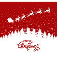 Holiday Christmas card with reindeers vector image