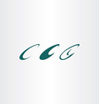 letter c logo sign set design elements vector image