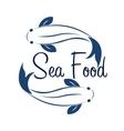 Logo fish sea food Ocean vector image