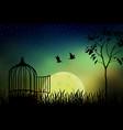 released to moonlight vector image