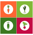 Set of Vegetables Icons vector image