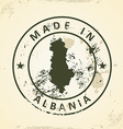 Stamp with map of Albania vector image