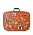 travel stickers labels with famous vector image