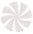 engineer fireworks swirl flower vector image