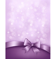 Elegant holiday background with gift bow and vector image vector image