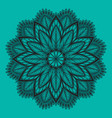 oriental mandala ornament template for vector image