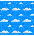 Seamless cloud pattern pixel art vector image