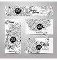 Corporate Identity templates doodles love theme vector image