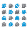 Internet Computer and mobile phone icons vector image