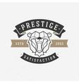 Vintage bear face Line art logotype emblem symbol vector image
