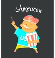 American or yankee man character citizen of the vector image