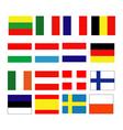 European continental flag vector image