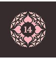 February 14 Valentines Day Love Symbol vector image