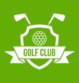 golf club emblem icon green vector image