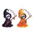 Grim Reaper Two characters of different colors vector image