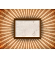 Grungy frame with rays vector image