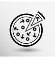 handmade pizza logo concept food vector image