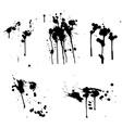 ink splashes vector image