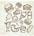 JUNK FOOD DOODLE vector image