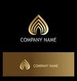 love stripe luxury gold logo vector image